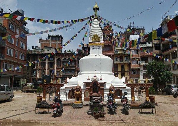 Buddhist stupa in Patan Nepal