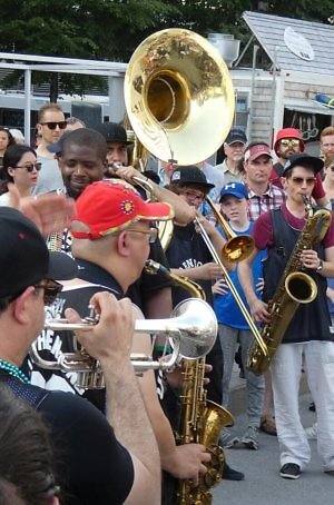Urban Science Brass Band at Montreal Festival de Jazz International