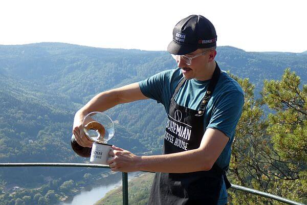 Bohemian coffee experience with Northern Hikes in Czech nature forest overlook