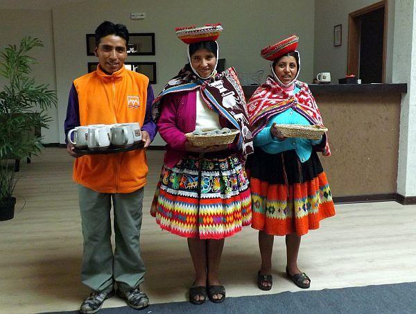 welcoming workers in Peru