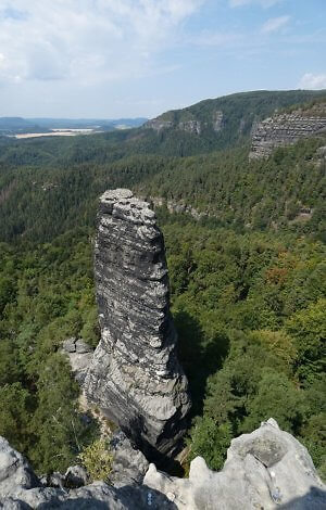 Rock formation in Bohemian Switzerland National Park in the Czech Republic, two hours north of Prague
