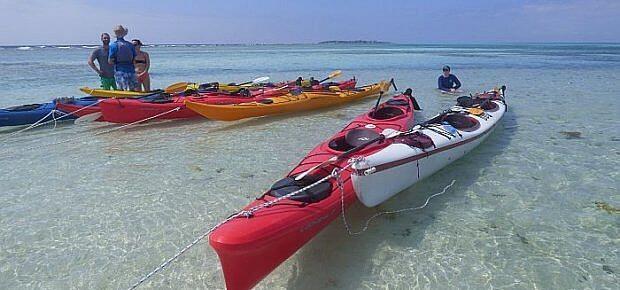 kayaks in Belize