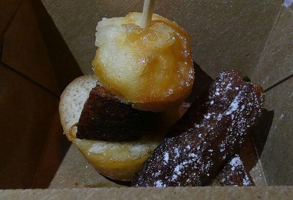 Pork belly doughnut slider on a Savannah food tour