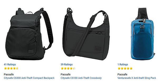theft-proof travel bags
