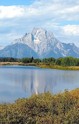 Great places to visit in Wyoming include Yellowstone National Park and Grand Teton National Park