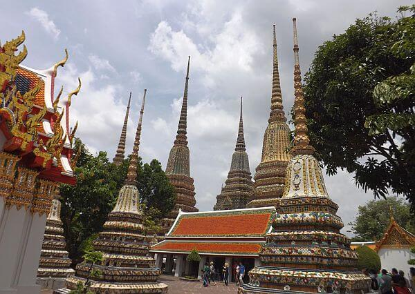 Grand Palace stupas in Bangkok Thailand