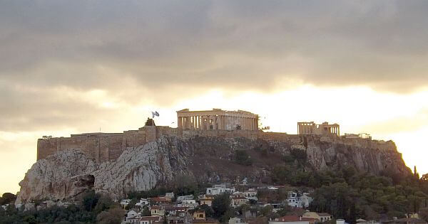 Greek Parthenon wonder of the world in Athens