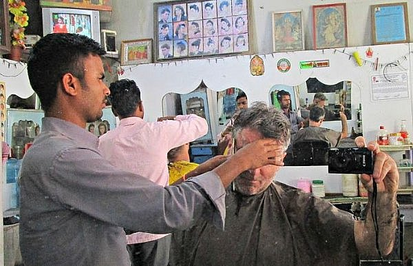 travel story about barbershop haircuts around the world