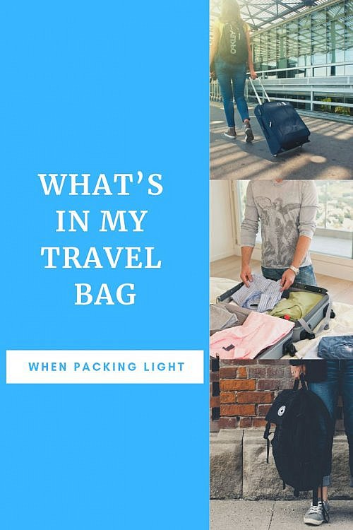 How packing light has changed over the years and what I'm still putting in my travel bag