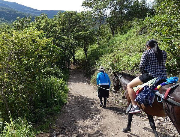 Getting to Gocta Falls by horseback