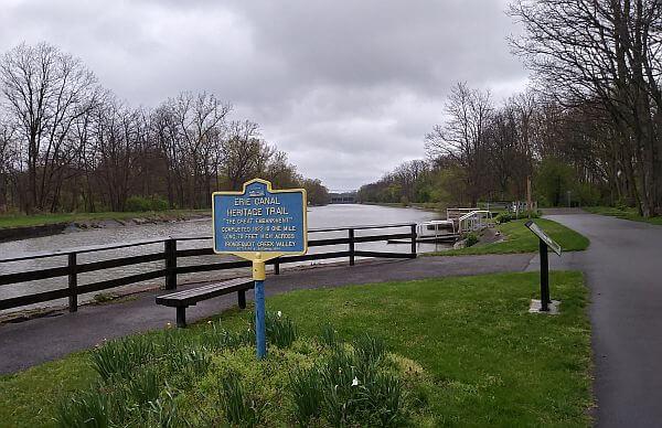 Erie Canal trail for biking