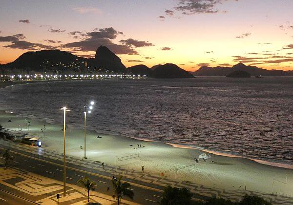 View from an Airbnb rental on Copacabana Beach