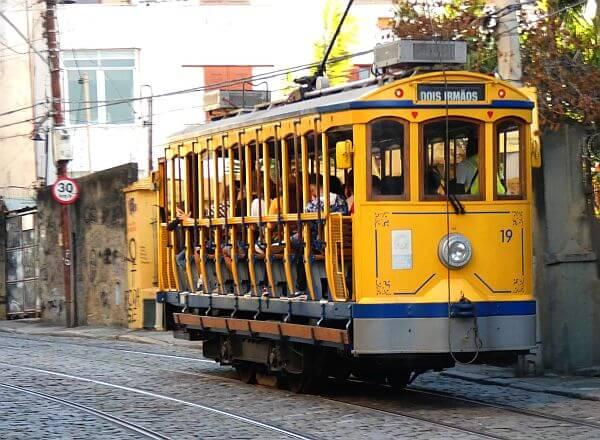 trolley car Santa Teresa neighborhood in Rio de Janeiro