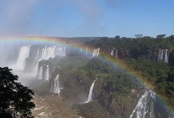 visiting Iguacu Falls on an organized tour