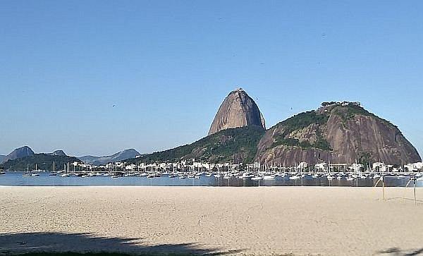 Beach by the lagoon in Rio de Janeiro