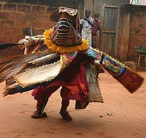 Benin voodoo dancer