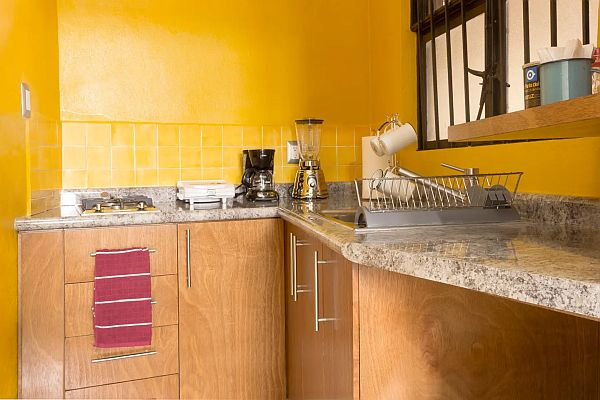 kitchen in a vacation apartment rental