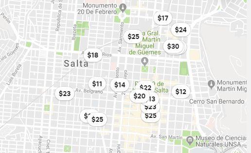 Airbnb prices in Salta Argentina