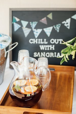 Make a sangria cocktail for a virtual trip to Spain