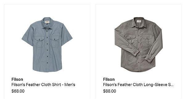 Filson travel shirts