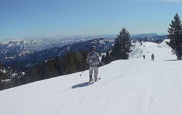 Bogus Basin skiing near Boise