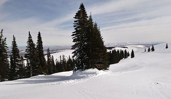 Ski Pomerelle no lift lines