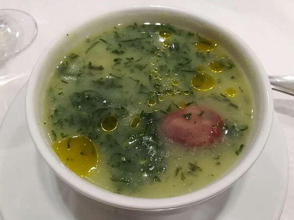 Caldo Verde soup from Portugal
