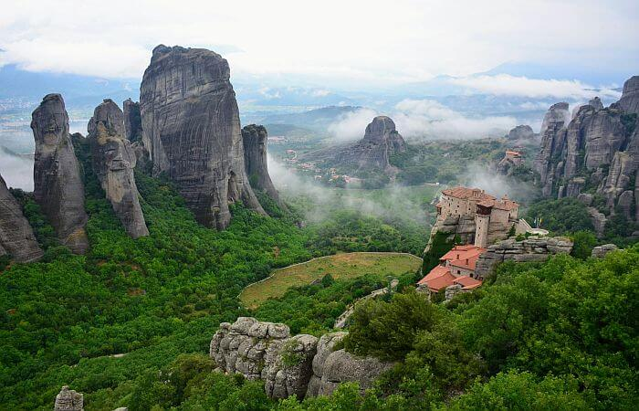 traveling to Meteora in Greece