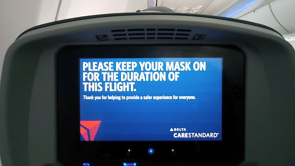 Masks required when flying on Delta Airlines
