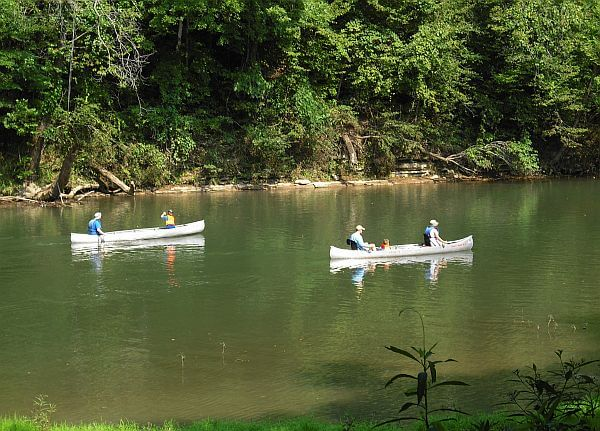 canoeing on the Buffalo River Tennessee