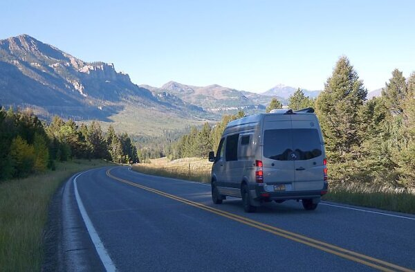 van life in state park campgrounds